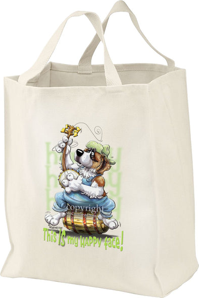 Saint Bernard - Who's A Happy Dog - Tote Bag