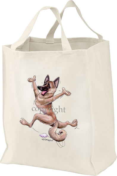 Belgian Malinois - Happy Dog - Tote Bag