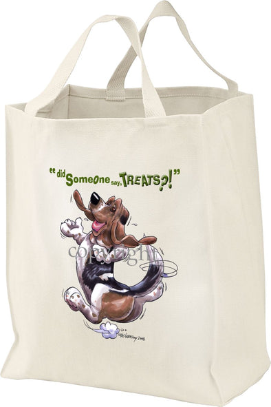 Basset Hound - Treats - Tote Bag