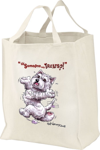 West Highland Terrier - Treats - Tote Bag