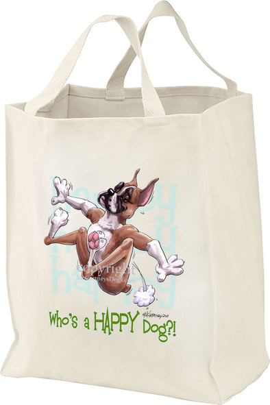 Boxer - Who's A Happy Dog - Tote Bag