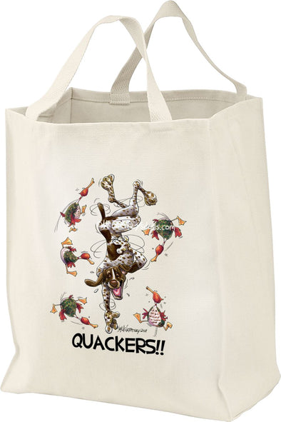 German Shorthaired Pointer - Quackers - Mike's Faves - Tote Bag