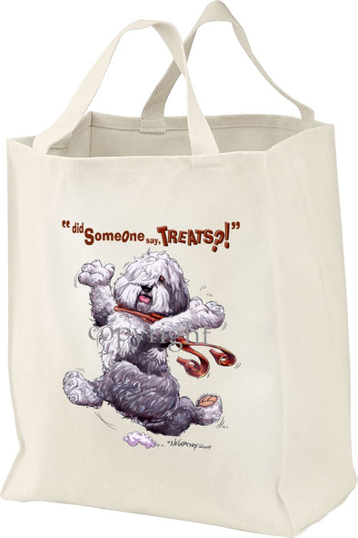Old English Sheepdog - Treats - Tote Bag