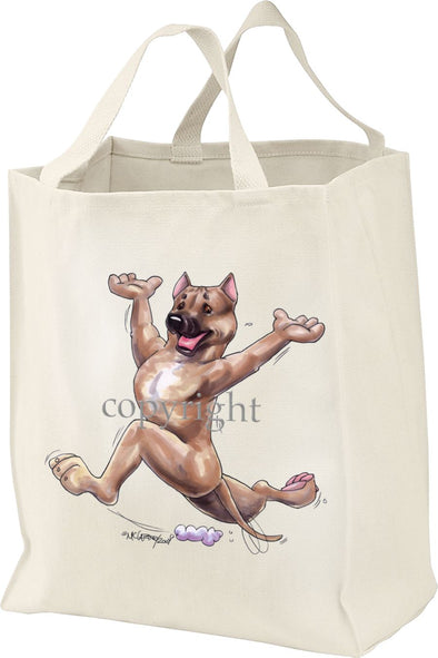 American Staffordshire Terrier - Happy Dog - Tote Bag