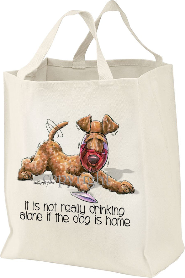Irish Terrier - It's Not Drinking Alone - Tote Bag