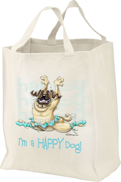 Mastiff - Who's A Happy Dog - Tote Bag