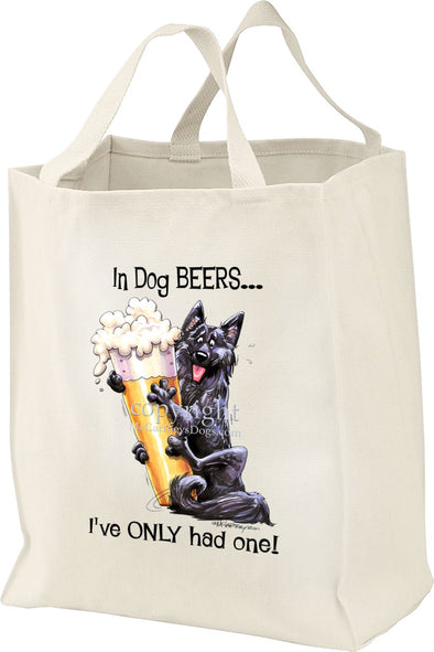 Belgian Sheepdog - Dog Beers - Tote Bag