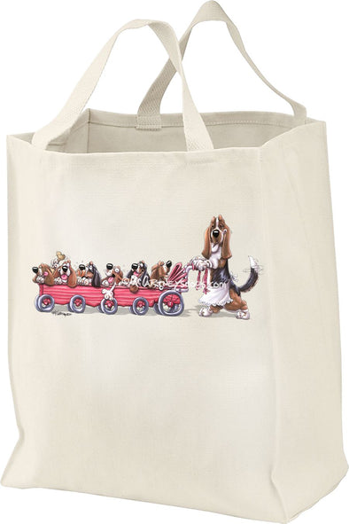 Basset Hound - Puppy Stroller - Mike's Faves - Tote Bag