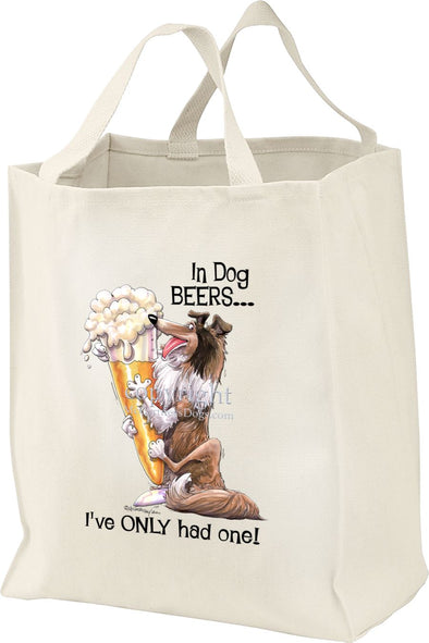 Collie - Dog Beers - Tote Bag