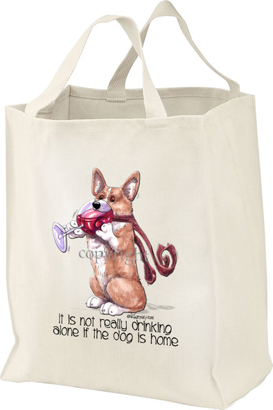 Welsh Corgi Pembroke - It's Not Drinking Alone - Tote Bag