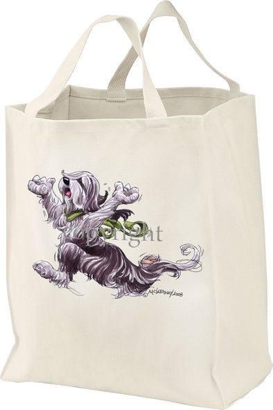 Bearded Collie - Happy Dog - Tote Bag