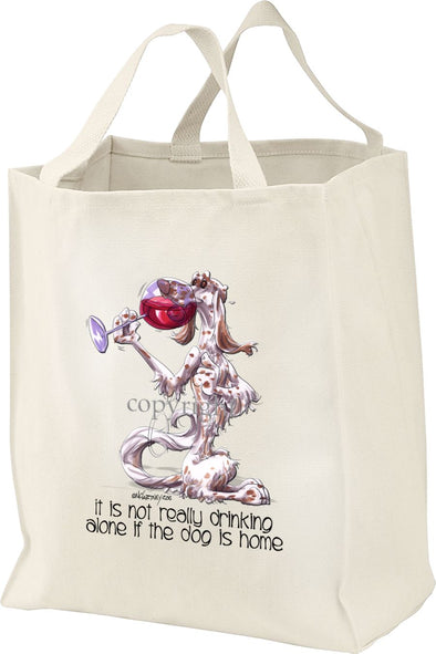 English Setter - It's Not Drinking Alone - Tote Bag