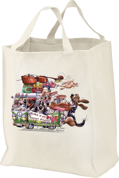Basset Hound - Bark If You Love Dogs - Tote Bag