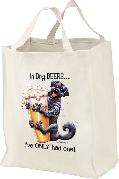 Labrador Retriever  Black - Dog Beers - Tote Bag