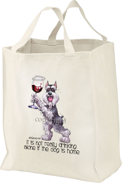 Schnauzer - It's Not Drinking Alone - Tote Bag