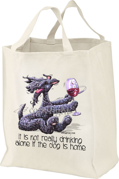 Kerry Blue Terrier - It's Not Drinking Alone - Tote Bag