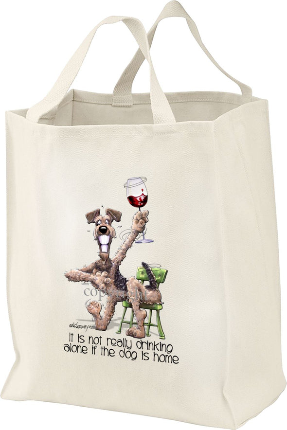 Airedale Terrier - It's Not Drinking Alone - Tote Bag