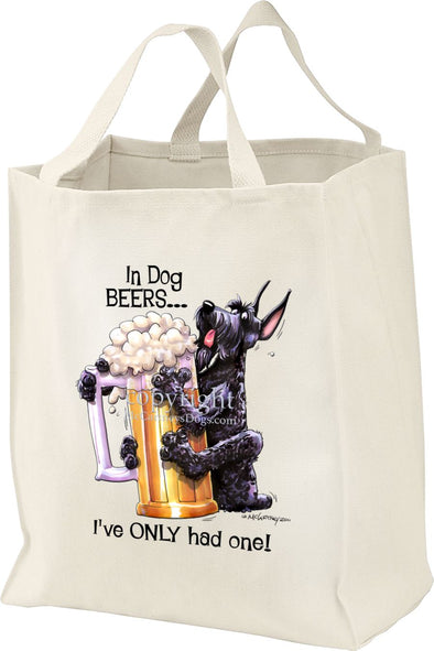 Giant Schnauzer - Dog Beers - Tote Bag