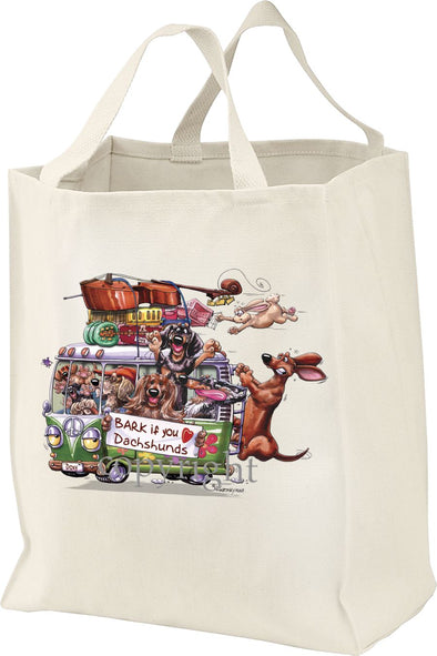 Dachshund - Bark If You Love Dogs - Tote Bag