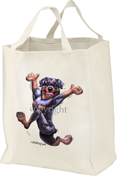 Rottweiler - Happy Dog - Tote Bag