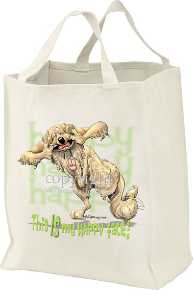 Golden Retriever - 2 - Who's A Happy Dog - Tote Bag