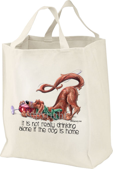 Irish Setter - It's Not Drinking Alone - Tote Bag