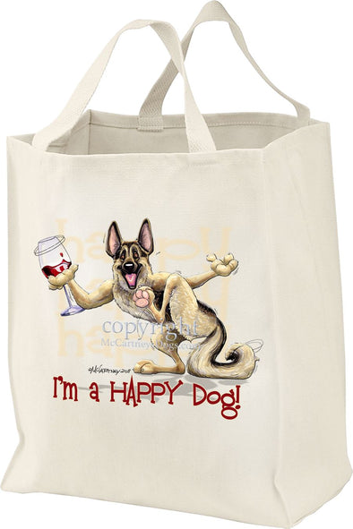 German Shepherd - 2 - Who's A Happy Dog - Tote Bag