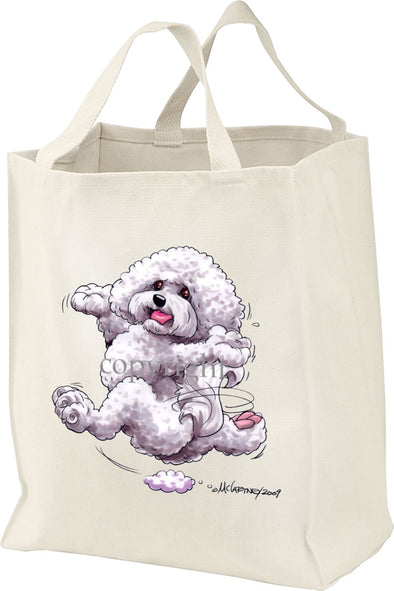 Bichon Frise - Happy Dog - Tote Bag