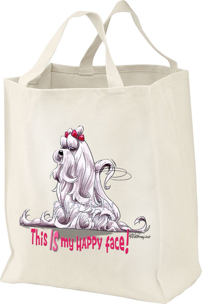 Maltese - Who's A Happy Dog - Tote Bag