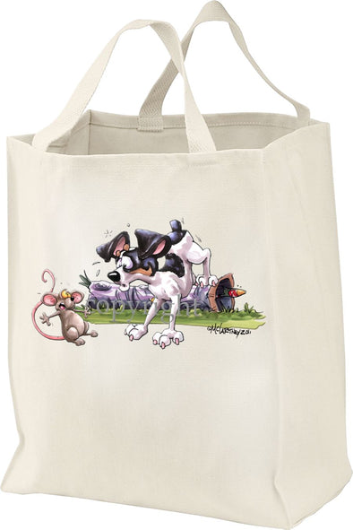 Rat Terrier - Rat Stare Down - Mike's Faves - Tote Bag