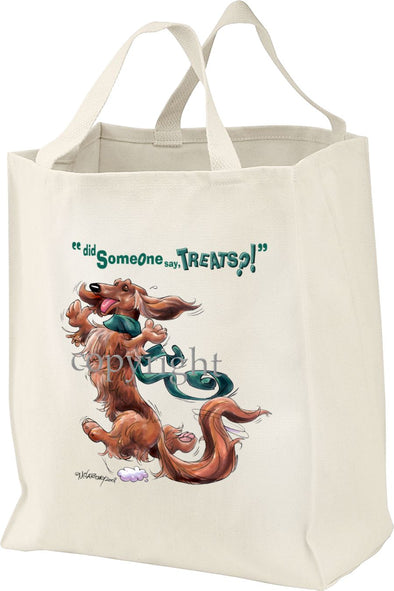 Dachshund  Longhaired - Treats - Tote Bag