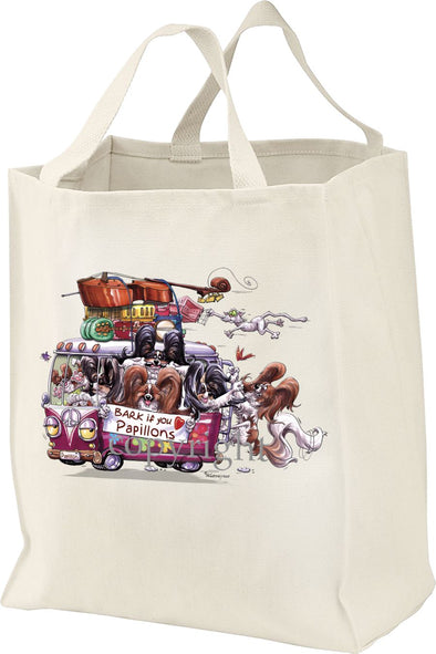 Papillon - Bark If You Love Dogs - Tote Bag