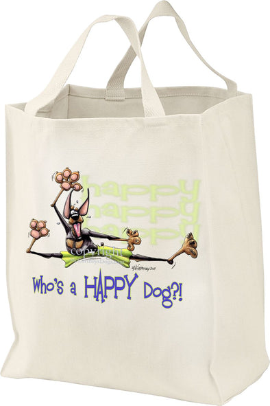 Doberman Pinscher - Who's A Happy Dog - Tote Bag