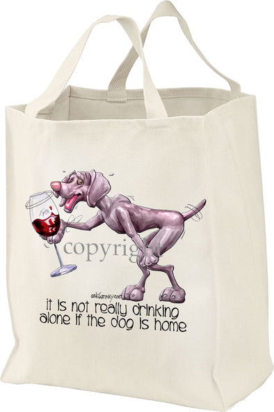 Weimaraner - It's Not Drinking Alone - Tote Bag
