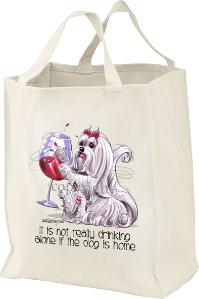 Maltese - It's Not Drinking Alone - Tote Bag