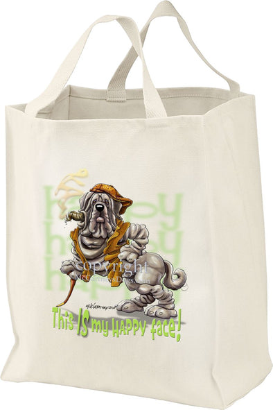 Neopolitan Mastiff - Who's A Happy Dog - Tote Bag