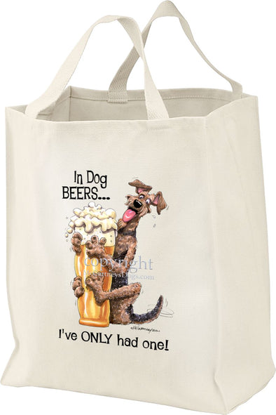 Airedale Terrier - Dog Beers - Tote Bag