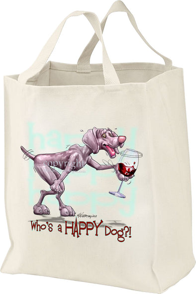 Weimaraner - Who's A Happy Dog - Tote Bag