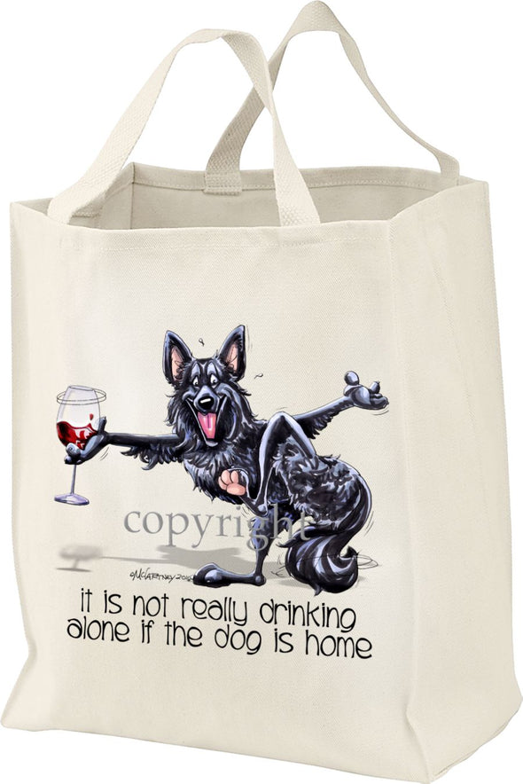 Belgian Sheepdog - It's Not Drinking Alone - Tote Bag