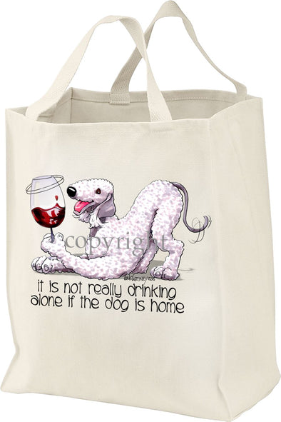 Bedlington Terrier - It's Not Drinking Alone - Tote Bag