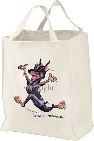 Miniature Pinscher - Happy Dog - Tote Bag
