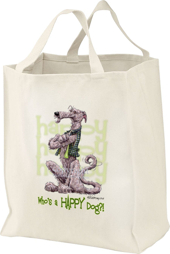 Irish Wolfhound - Who's A Happy Dog - Tote Bag