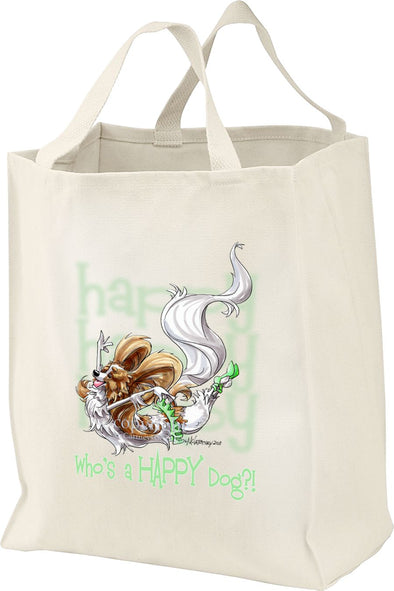 Papillon - Who's A Happy Dog - Tote Bag