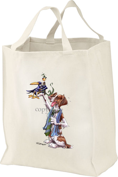 Brittany - Holding Crow - Mike's Faves - Tote Bag