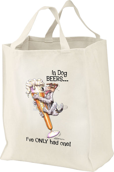 Wire Fox Terrier - Dog Beers - Tote Bag