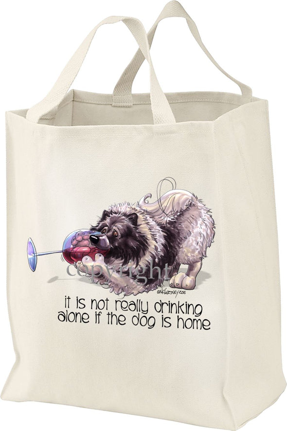 Keeshond - It's Not Drinking Alone - Tote Bag