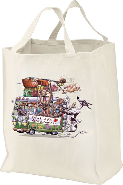 Greyhound - Bark If You Love Dogs - Tote Bag