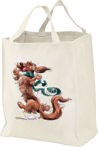 Dachshund  Longhaired - Happy Dog - Tote Bag