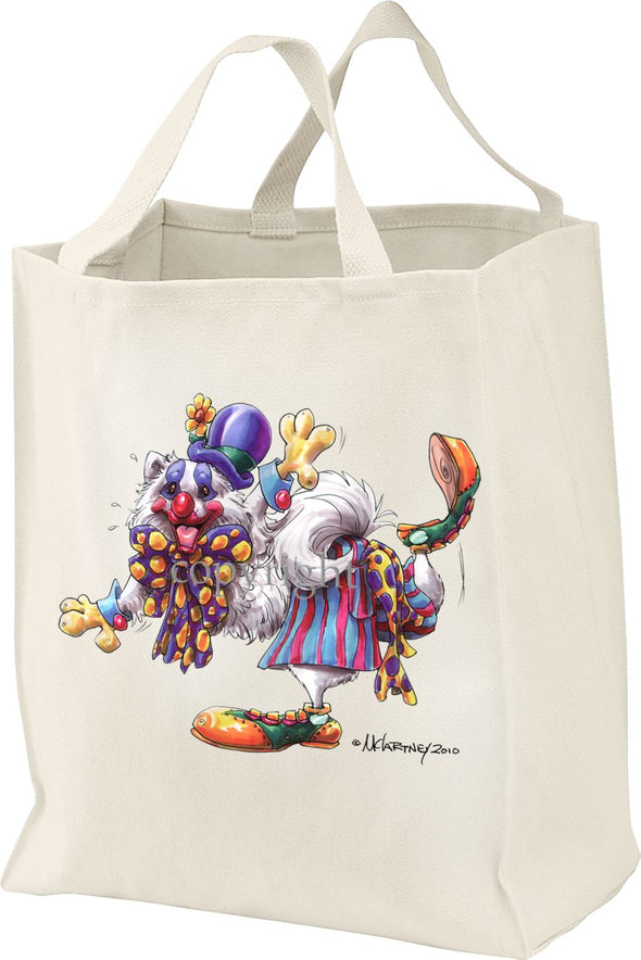American Eskimo Dog - Clown - Mike's Faves - Tote Bag