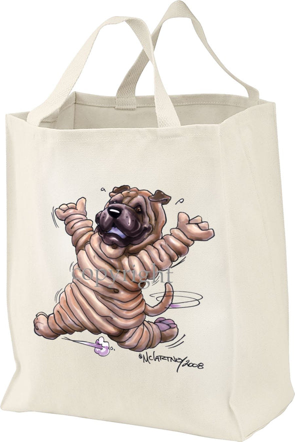 Shar Pei - Happy Dog - Tote Bag